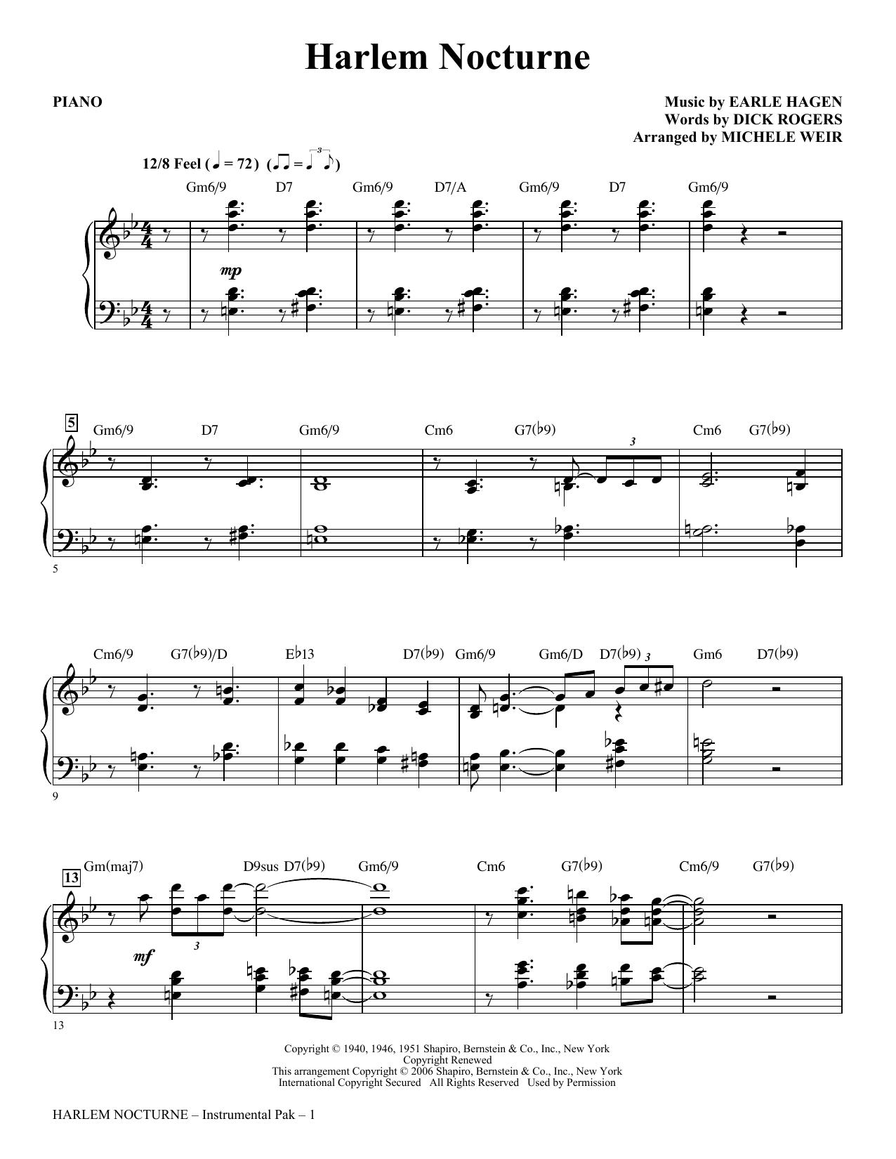 Harlem Nocturne (arr. Michele Weir) - Piano Sheet Music