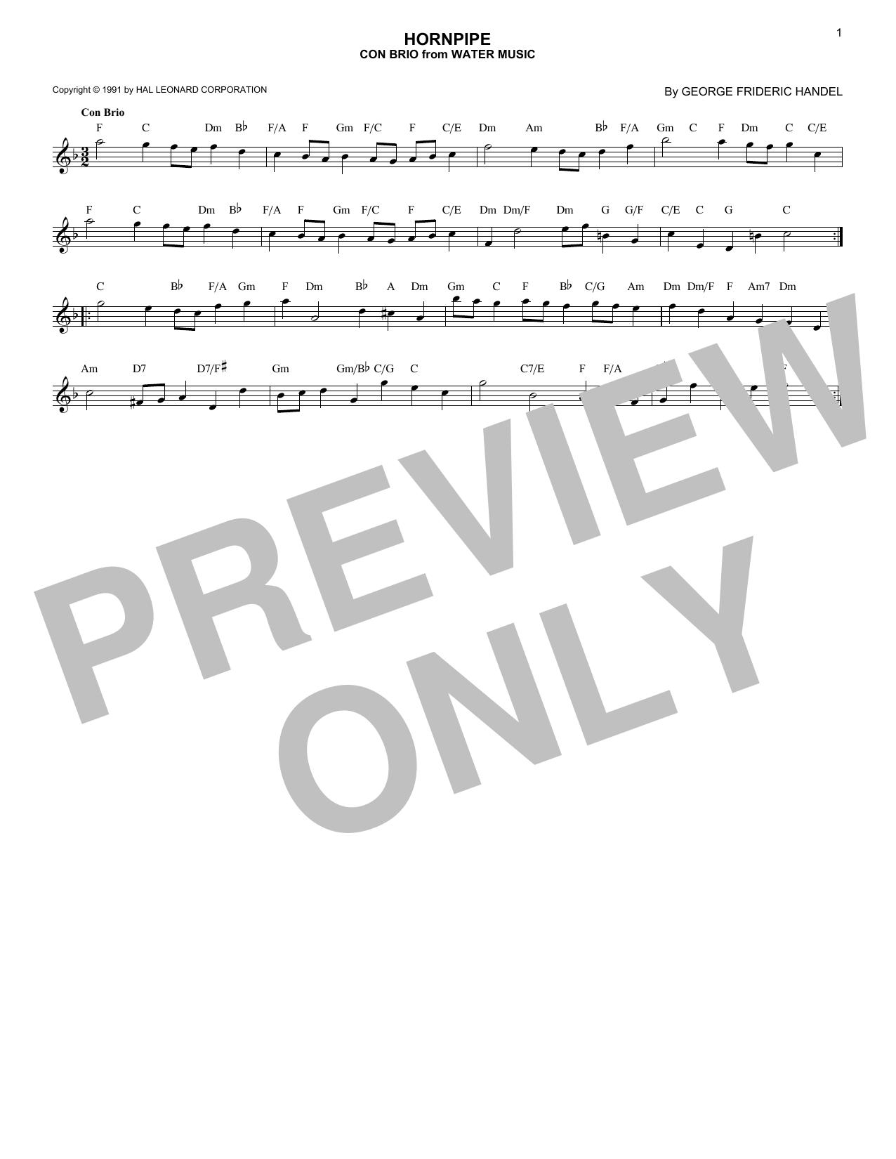 Hornpipe (Lead Sheet / Fake Book)