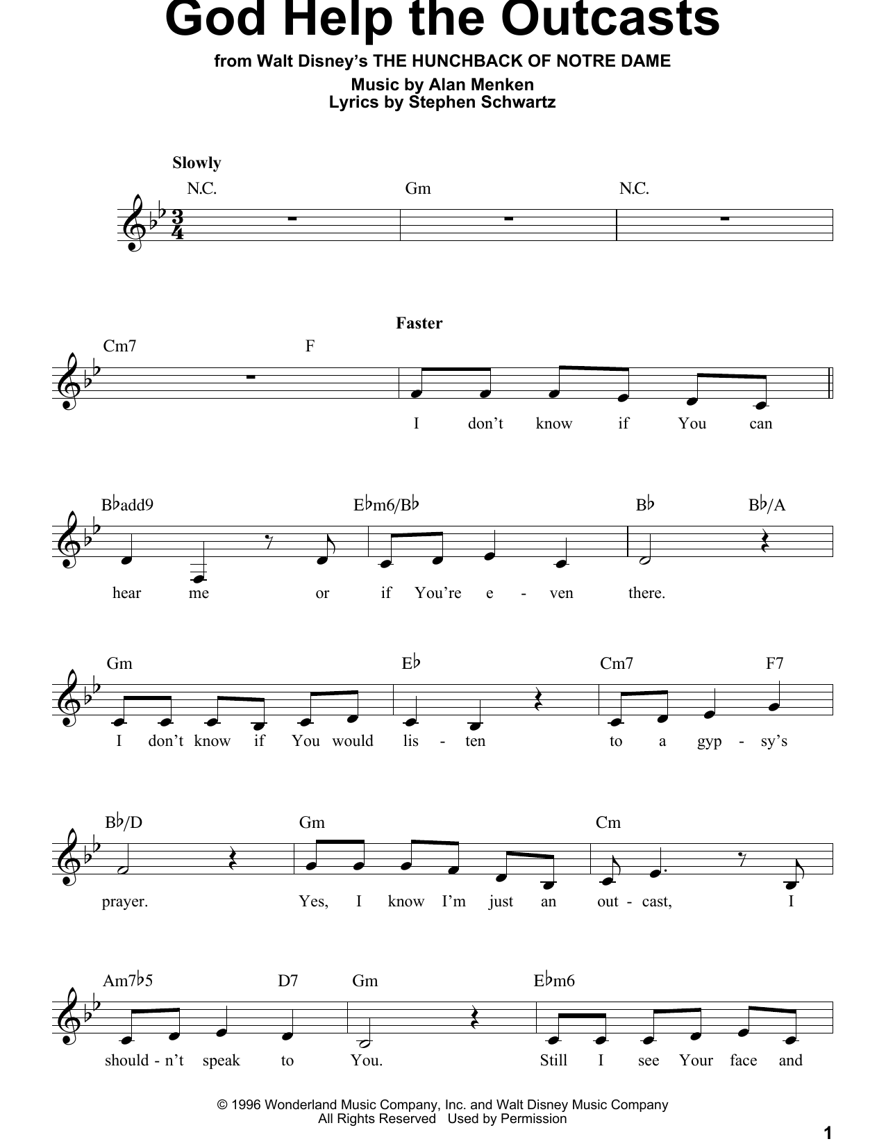 God Help The Outcasts (Pro Vocal)