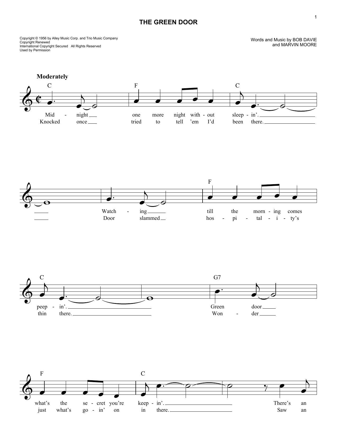 The Green Door Sheet Music