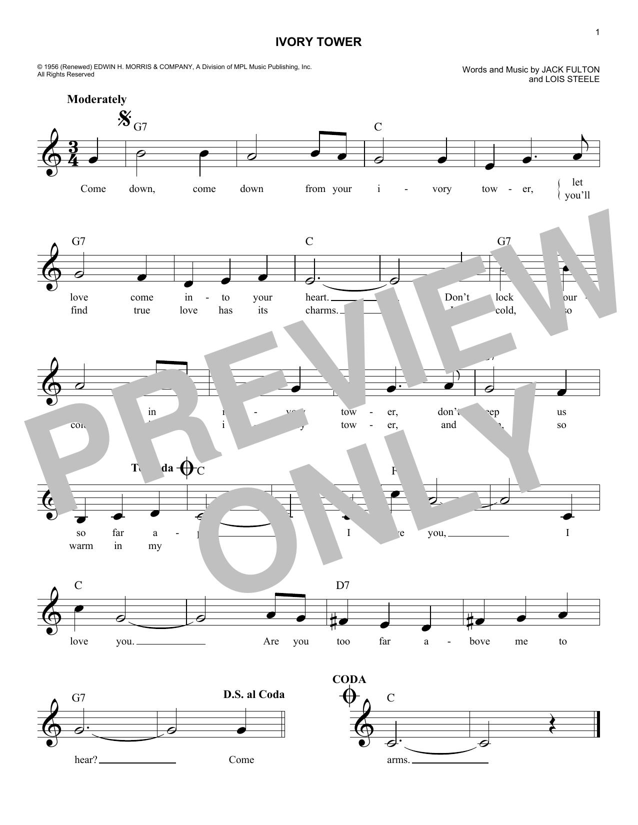 Ivory Tower Sheet Music