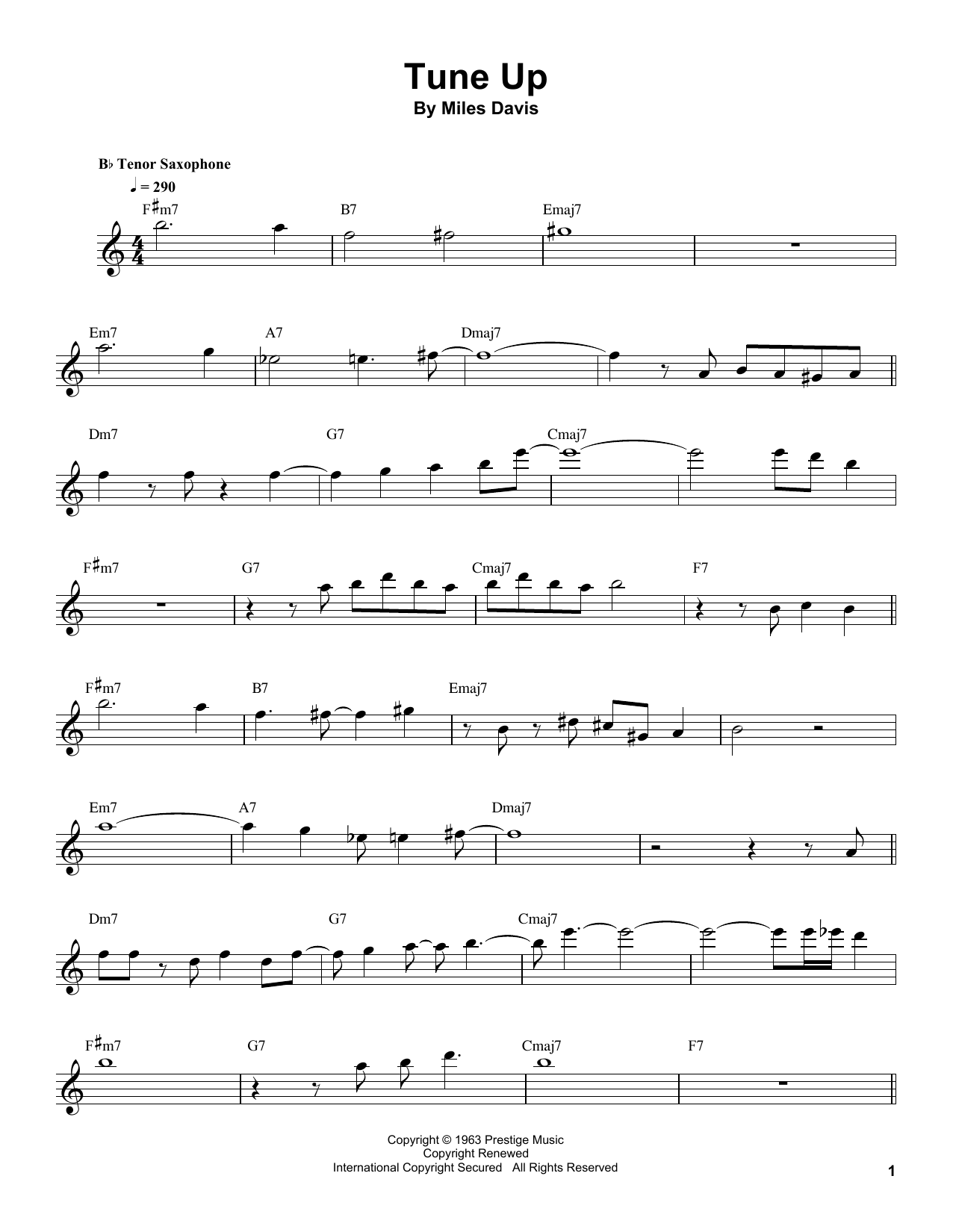 Tune Up Sheet Music