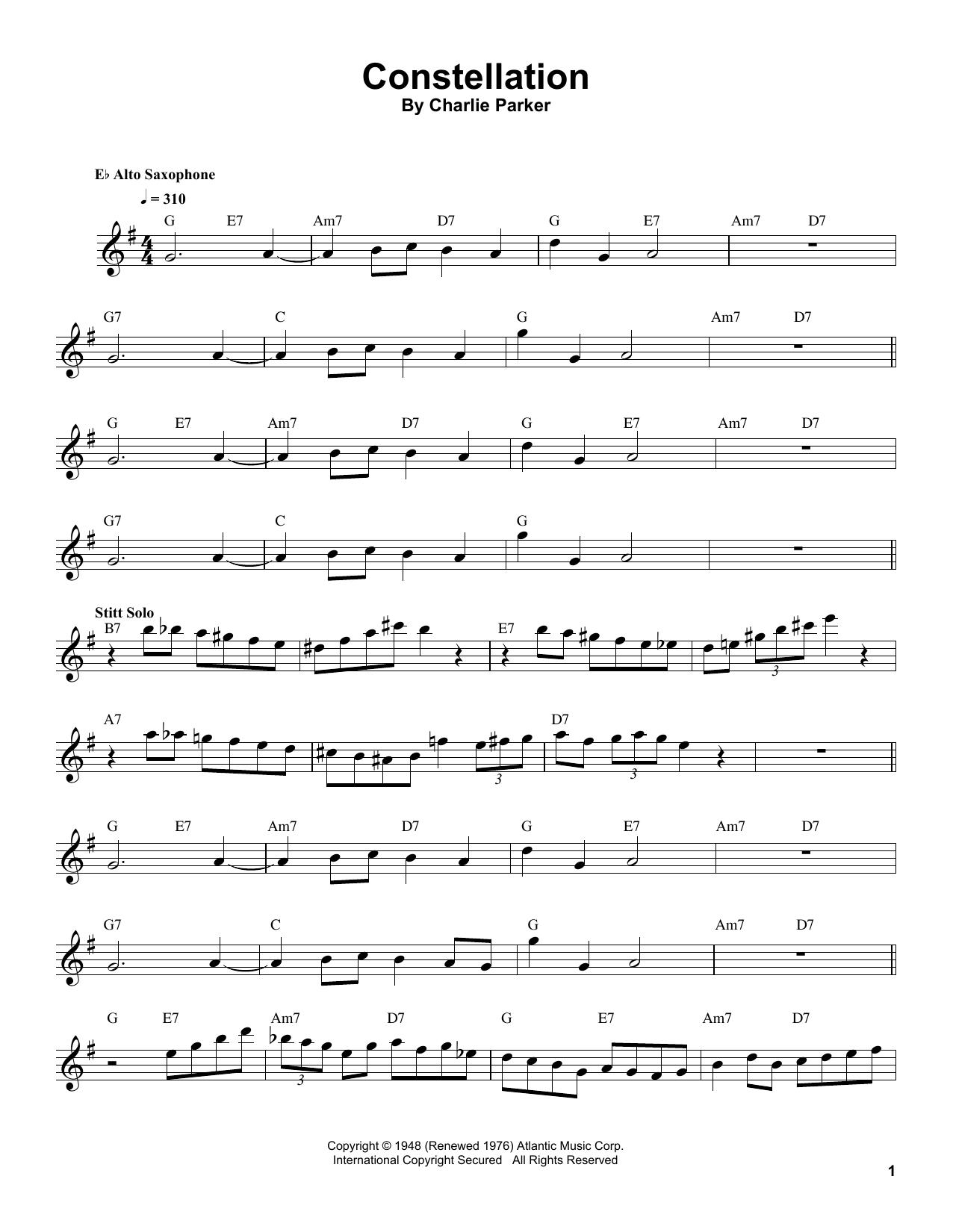 Constellation Sheet Music
