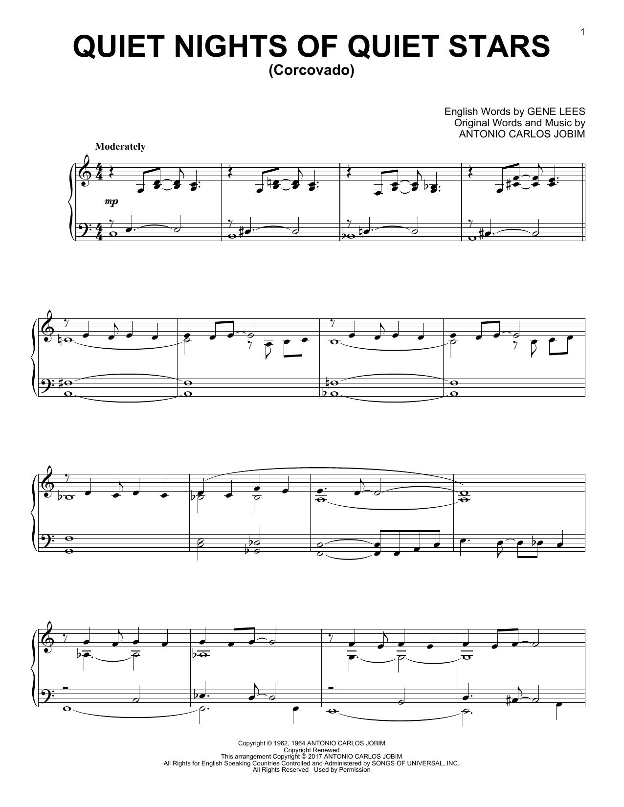Quiet Nights Of Quiet Stars (Corcovado) (Piano Solo)