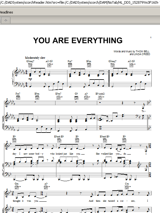 You Are Everything Sheet Music