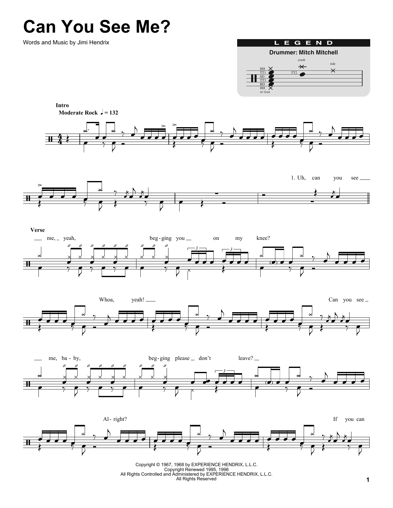 Can You See Me Sheet Music