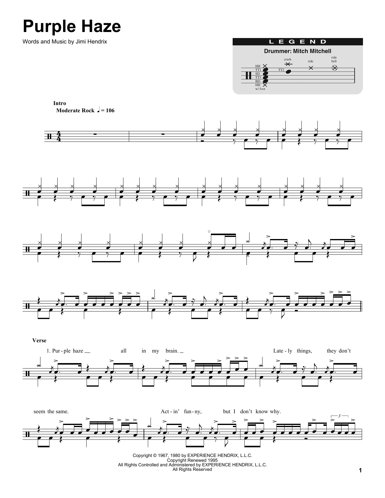 Purple Haze Sheet Music