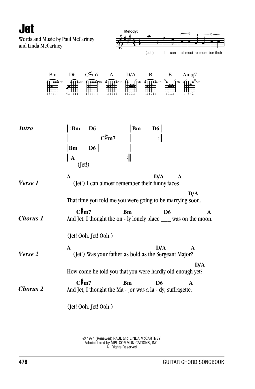 Paul Mccartney Guitar Chord Songbook 6 Inch X 9 Inch Sheet