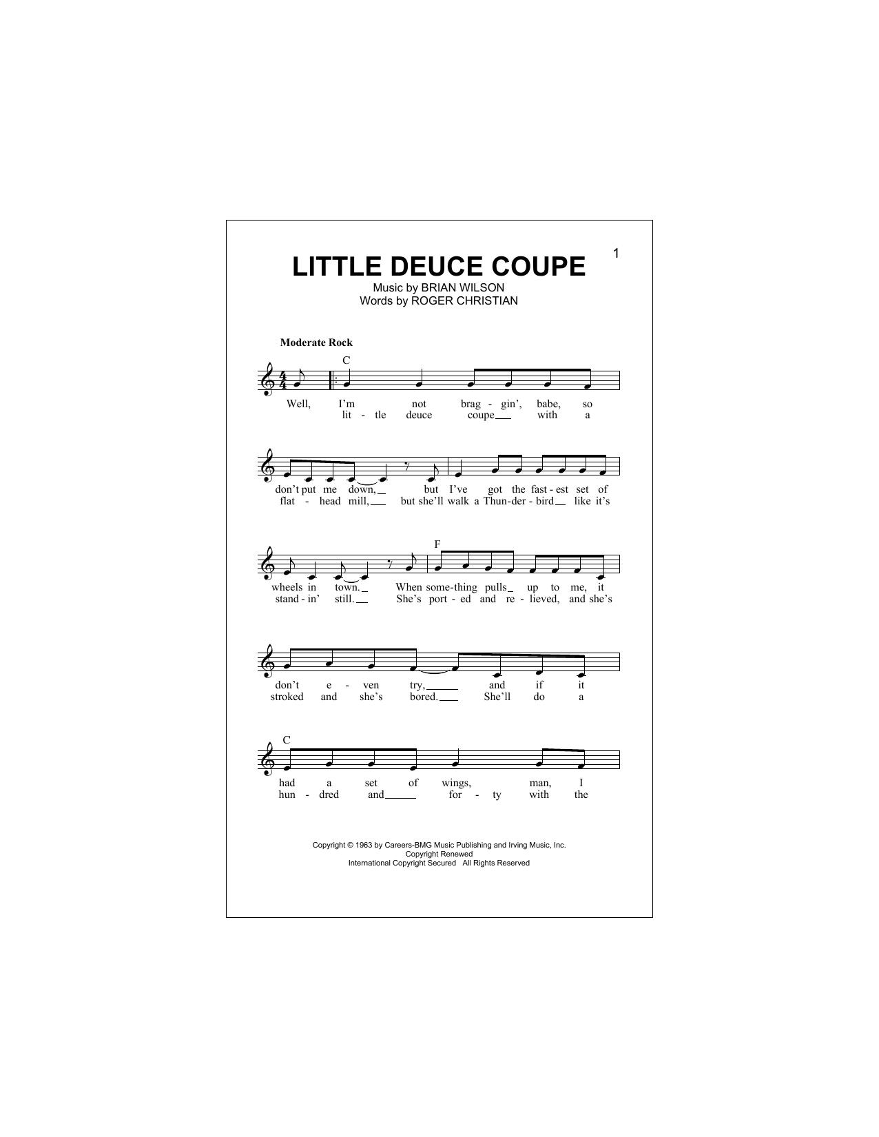 Little Deuce Coupe (Lead Sheet / Fake Book)