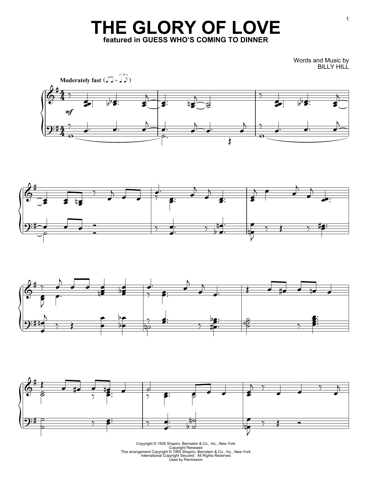 The Glory Of Love (Piano Solo)
