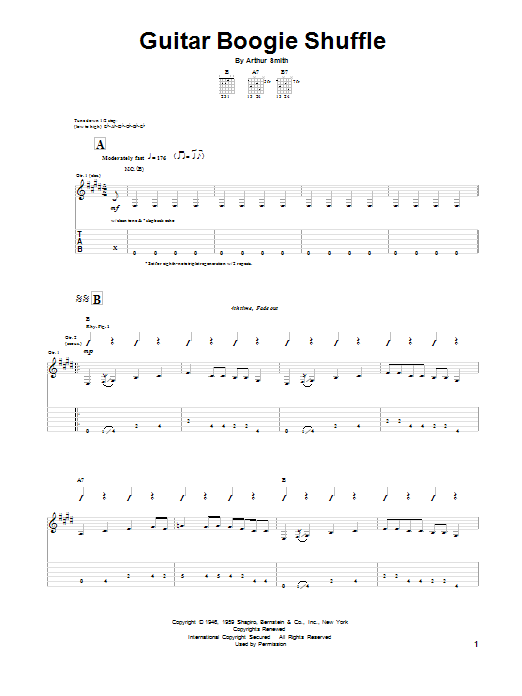 Guitar Boogie Shuffle Partition Digitale
