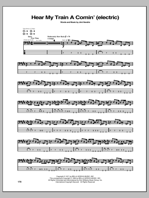 Hear My Train A Comin' Sheet Music