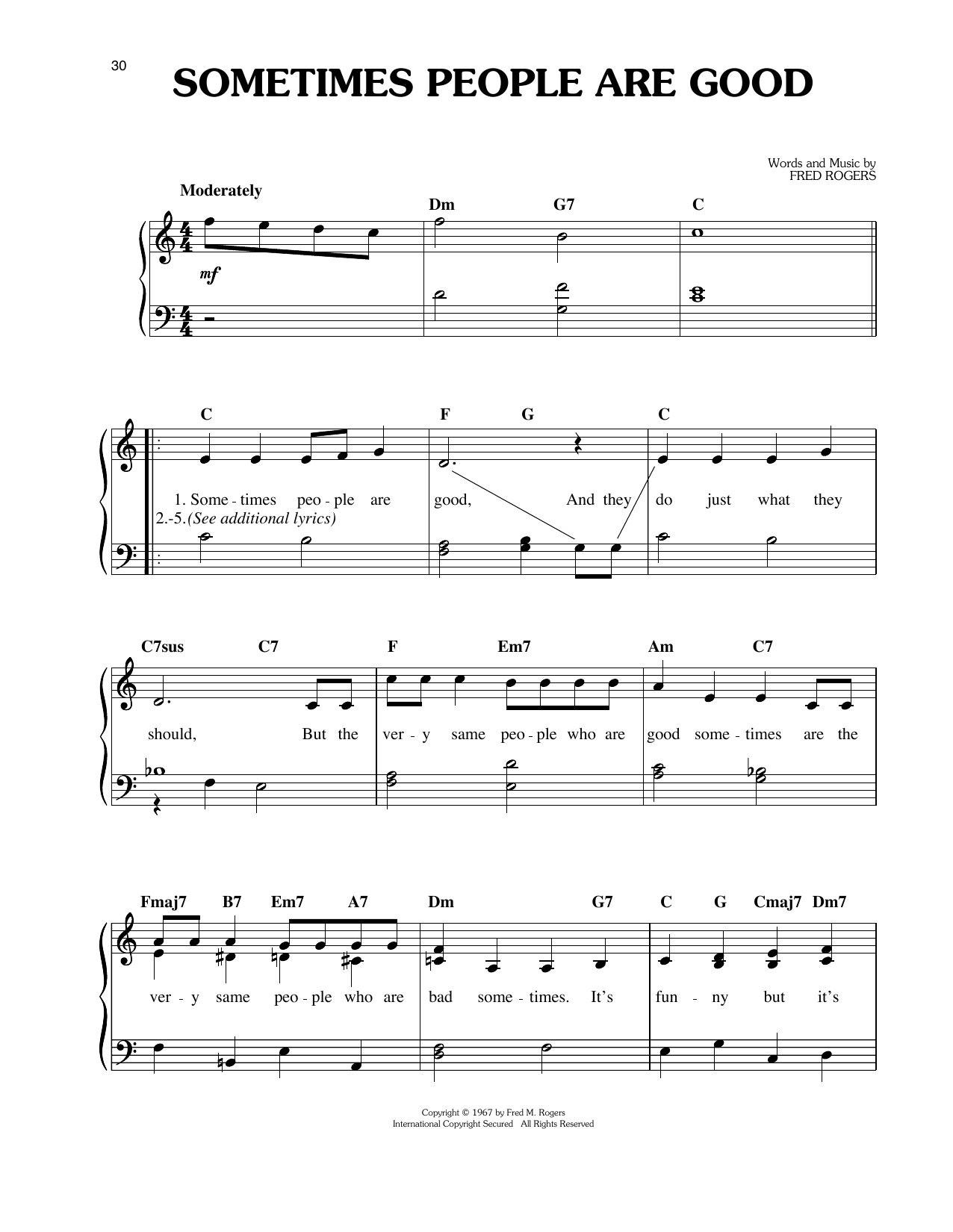 Sometimes People Are Good Sheet Music