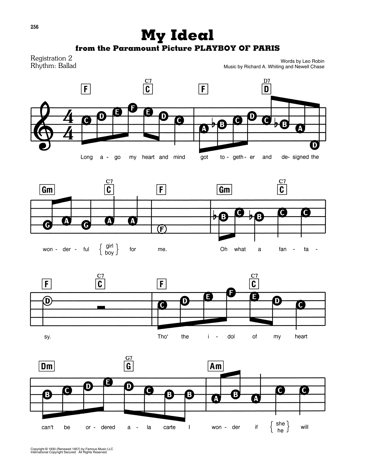My Ideal Sheet Music