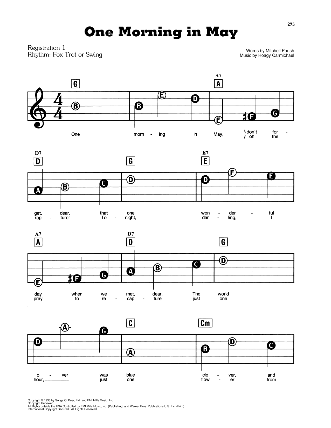 One Morning In May Sheet Music