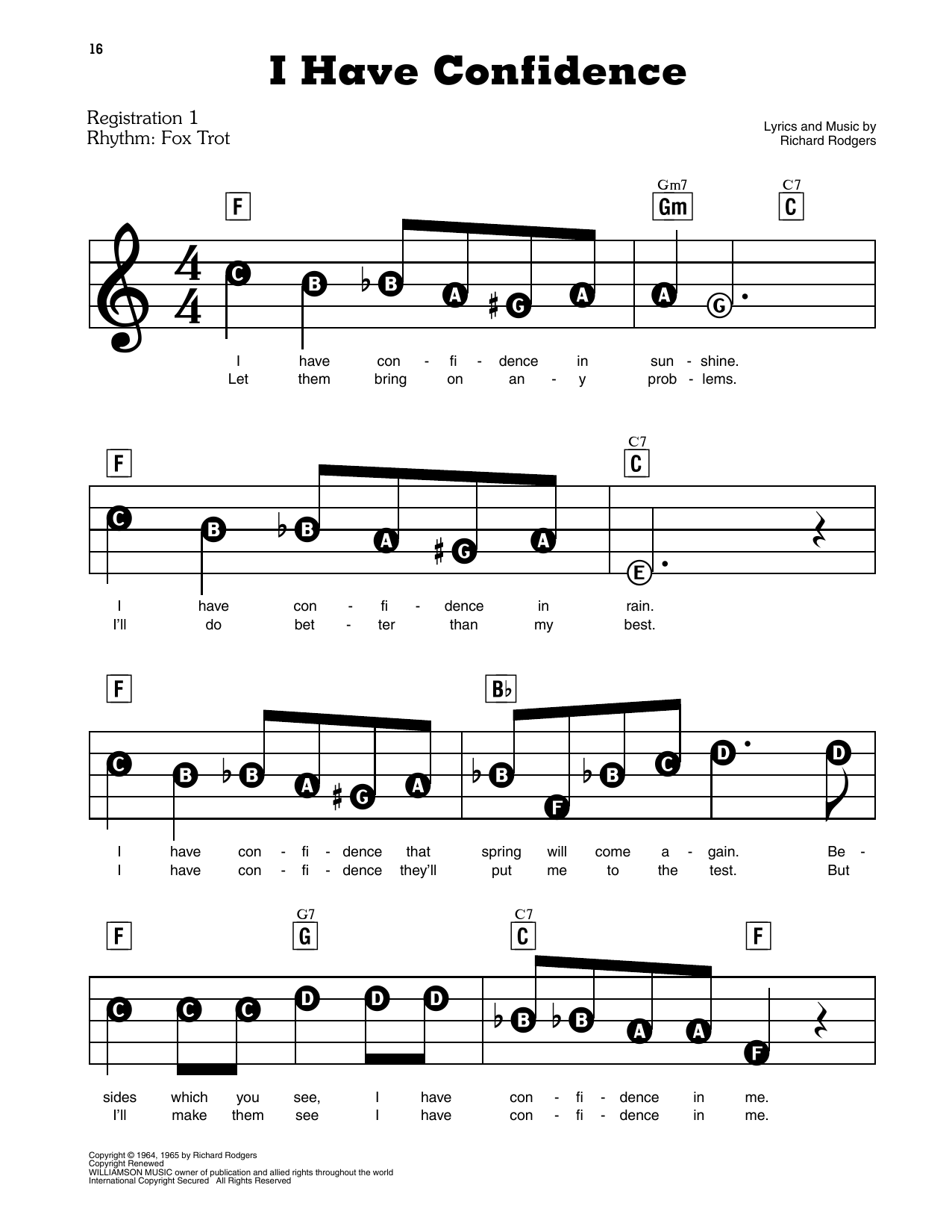I Have Confidence (from The Sound Of Music) Sheet Music
