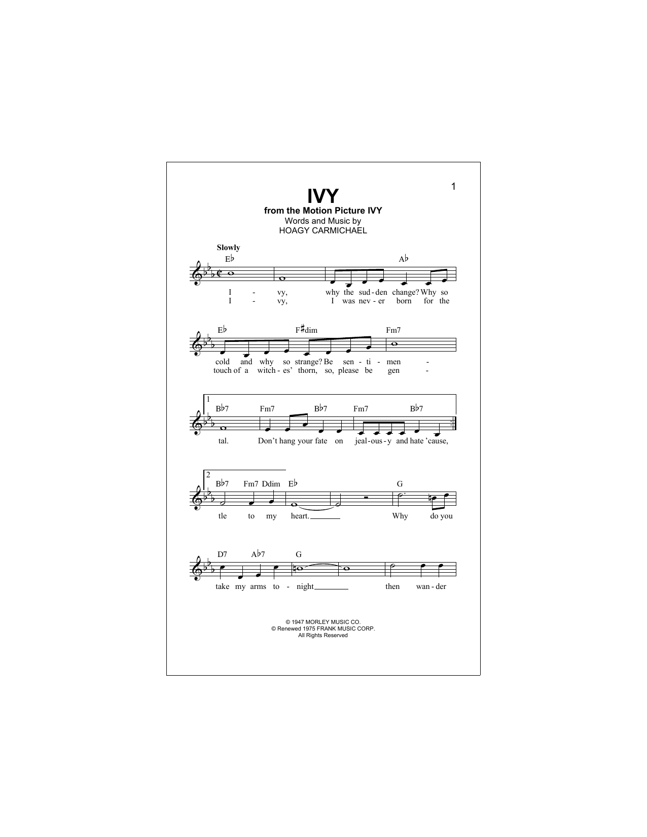 Ivy Sheet Music