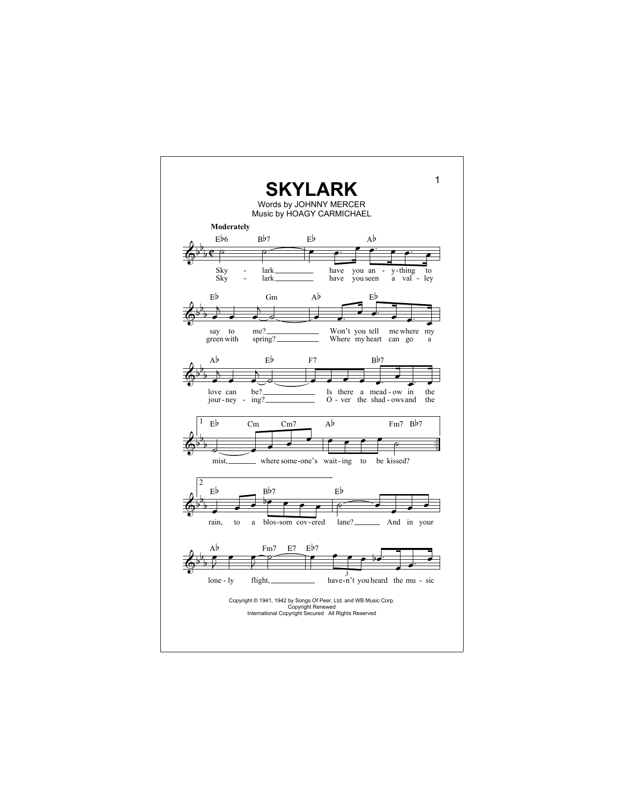 Skylark Sheet Music