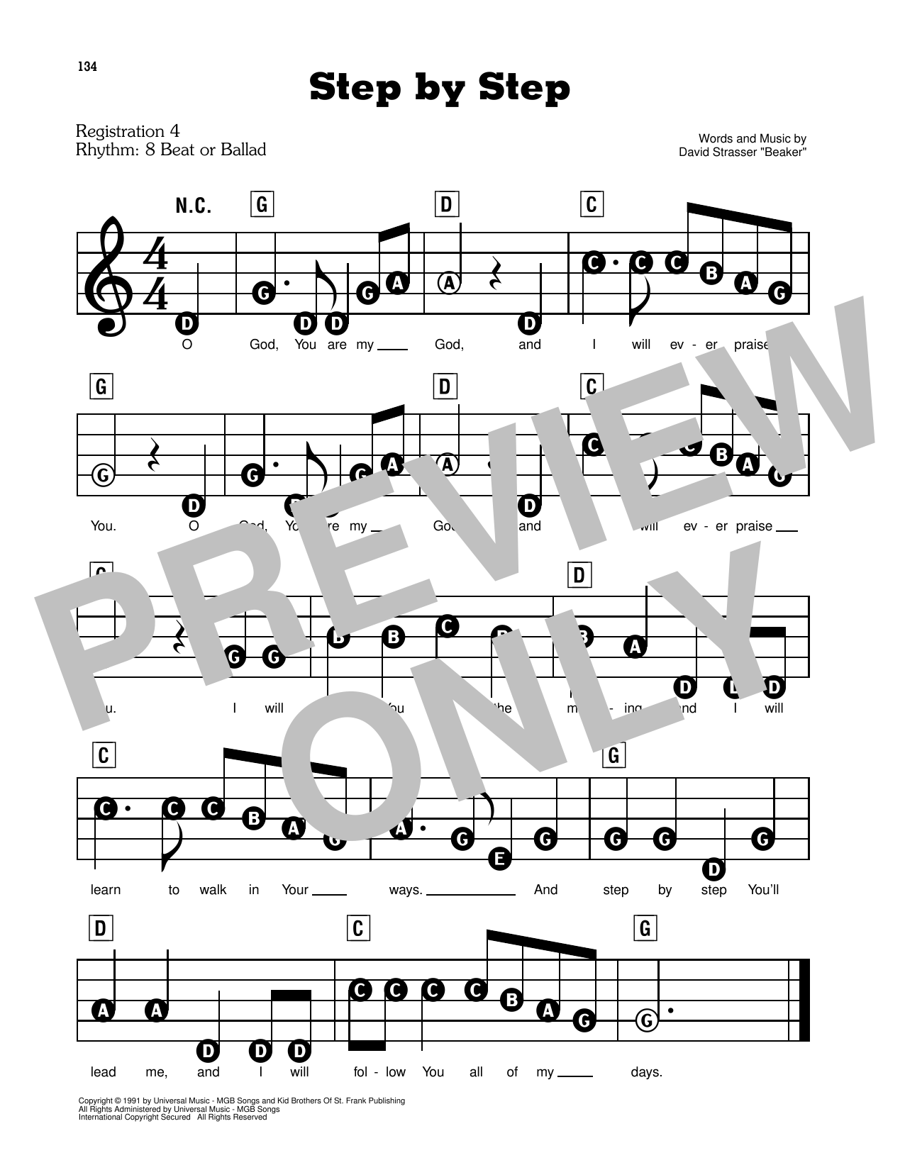 Step By Step Sheet Music