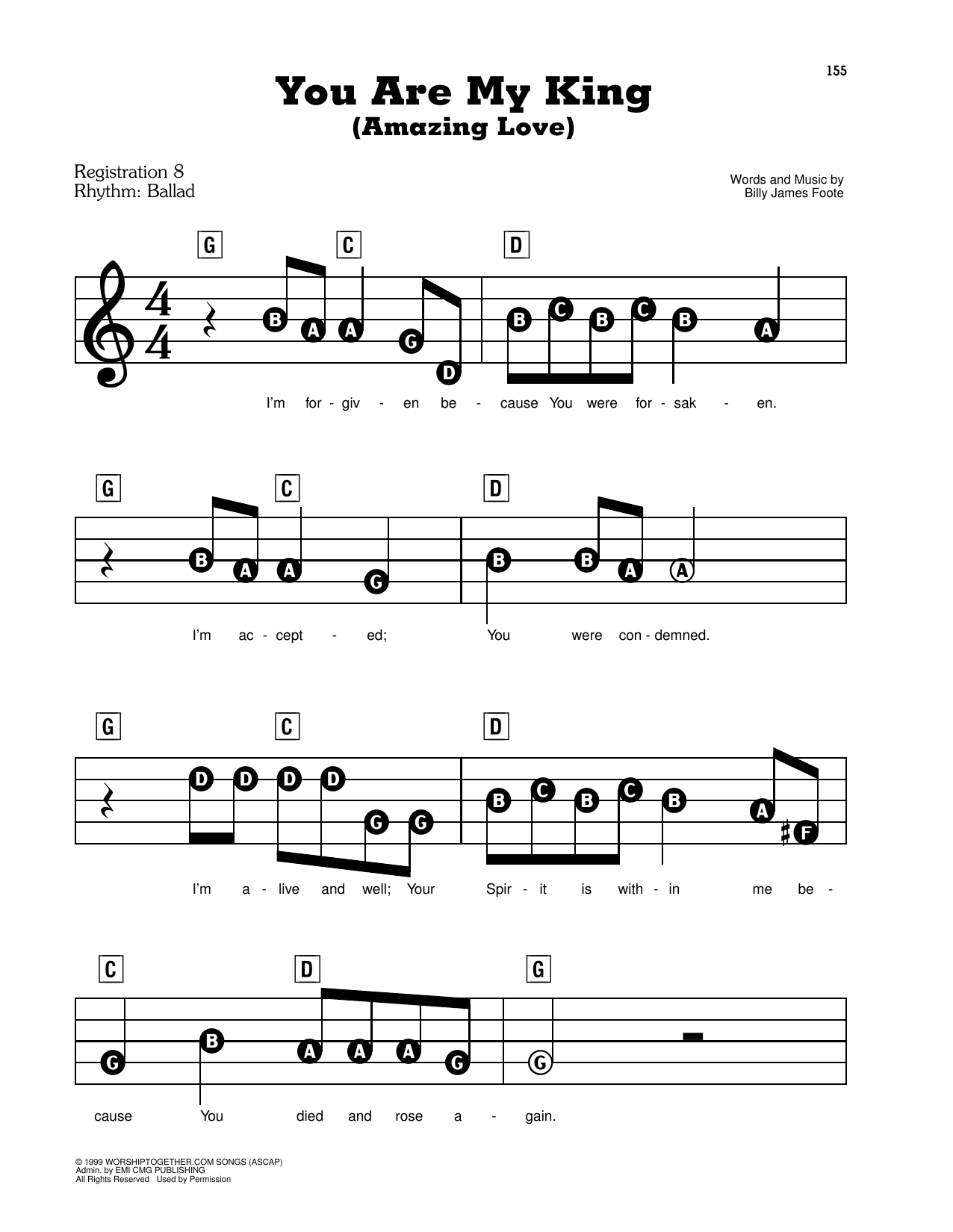 You Are My King (Amazing Love) Sheet Music