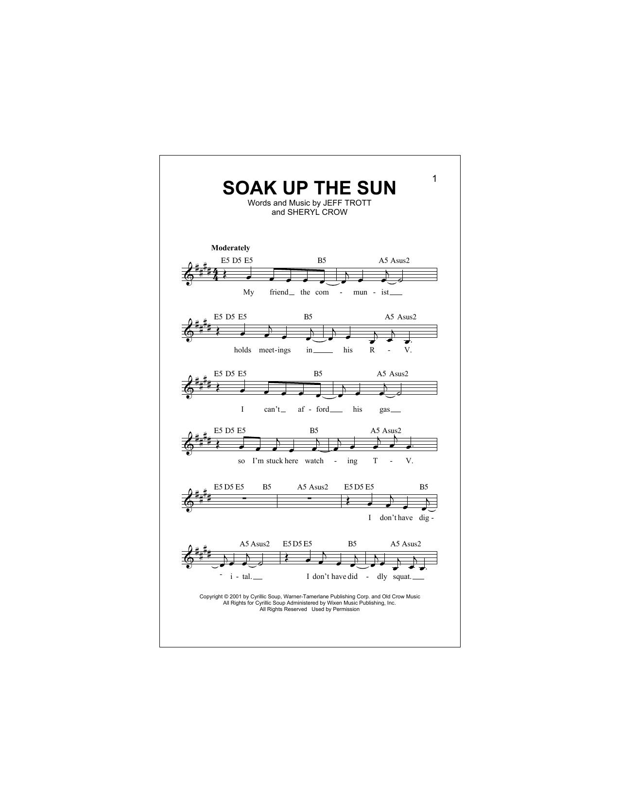Soak Up The Sun (Lead Sheet / Fake Book)