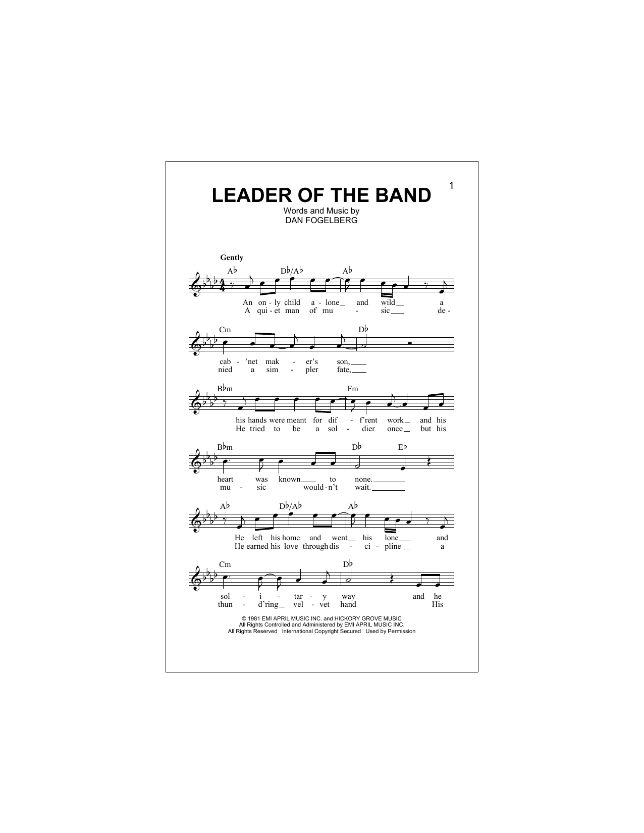 Leader Of The Band Sheet Music