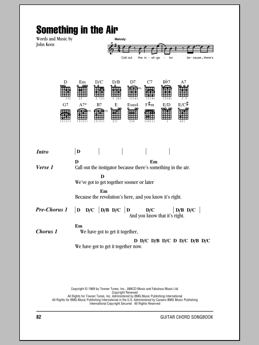 Something In The Air Sheet Music