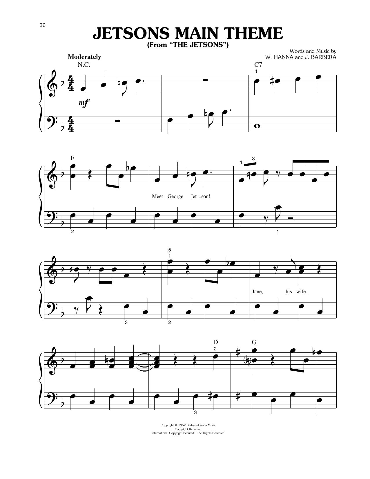 Jetsons Main Theme Sheet Music