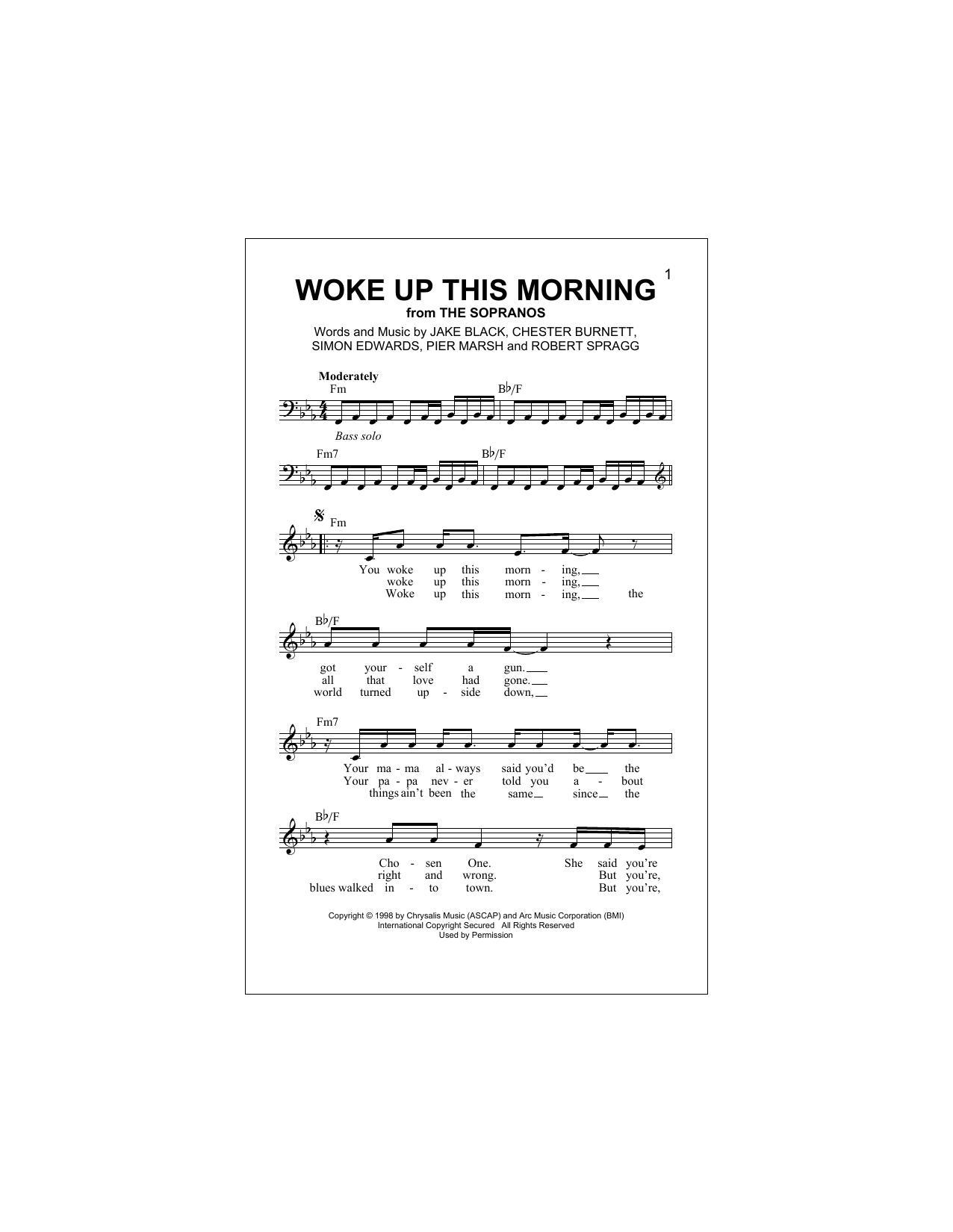 Woke Up This Morning (Lead Sheet / Fake Book)