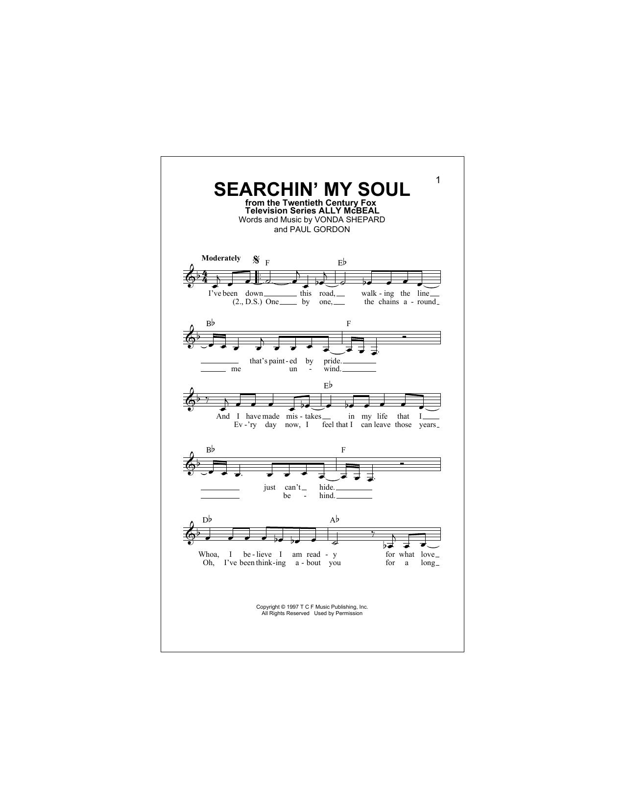 Searchin' My Soul Sheet Music