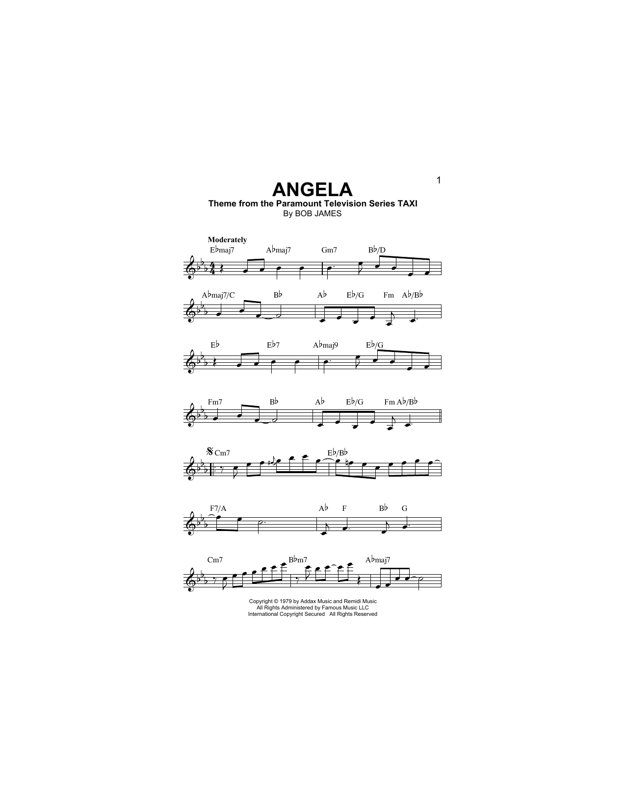 Angela Sheet Music