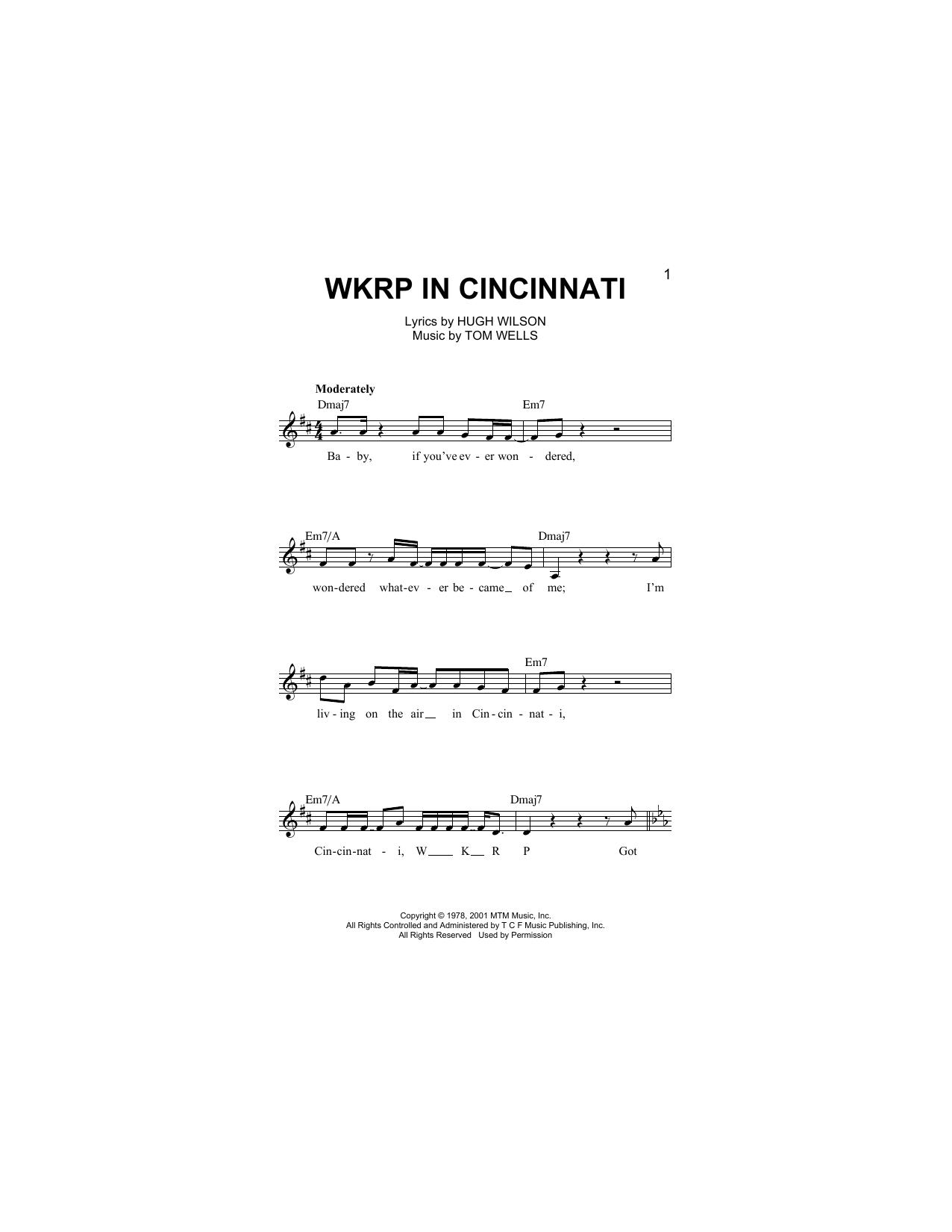 WKRP In Cincinnati (Main Theme) Sheet Music