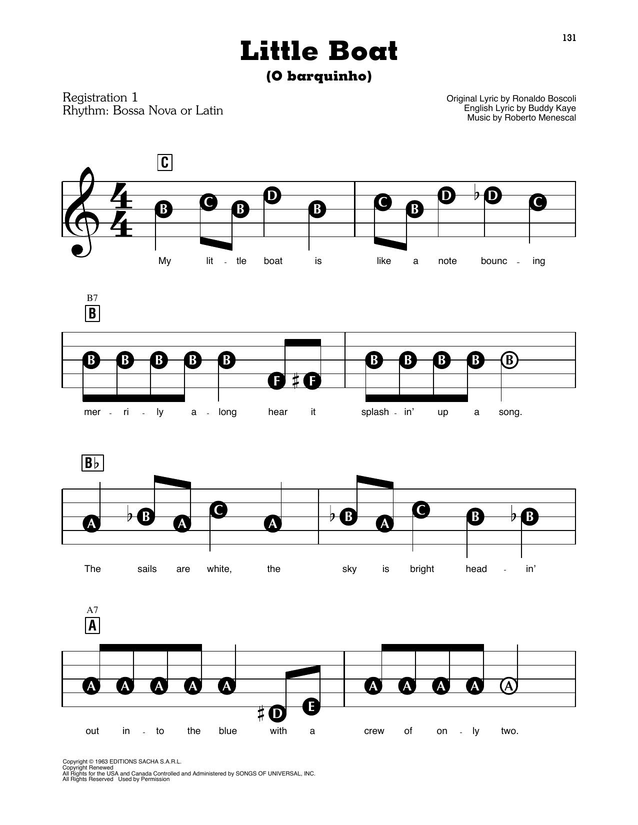 Little Boat (O Barquinho) (E-Z Play Today)