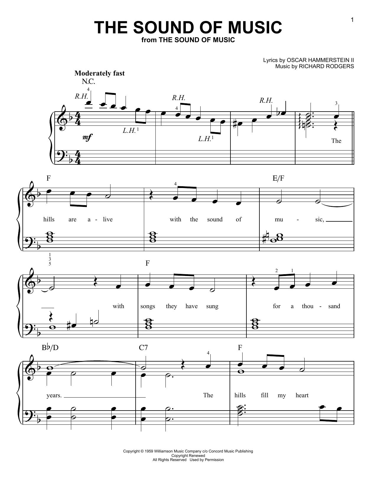 Partition piano The Sound Of Music de Oscar Hammerstein II - Piano Facile