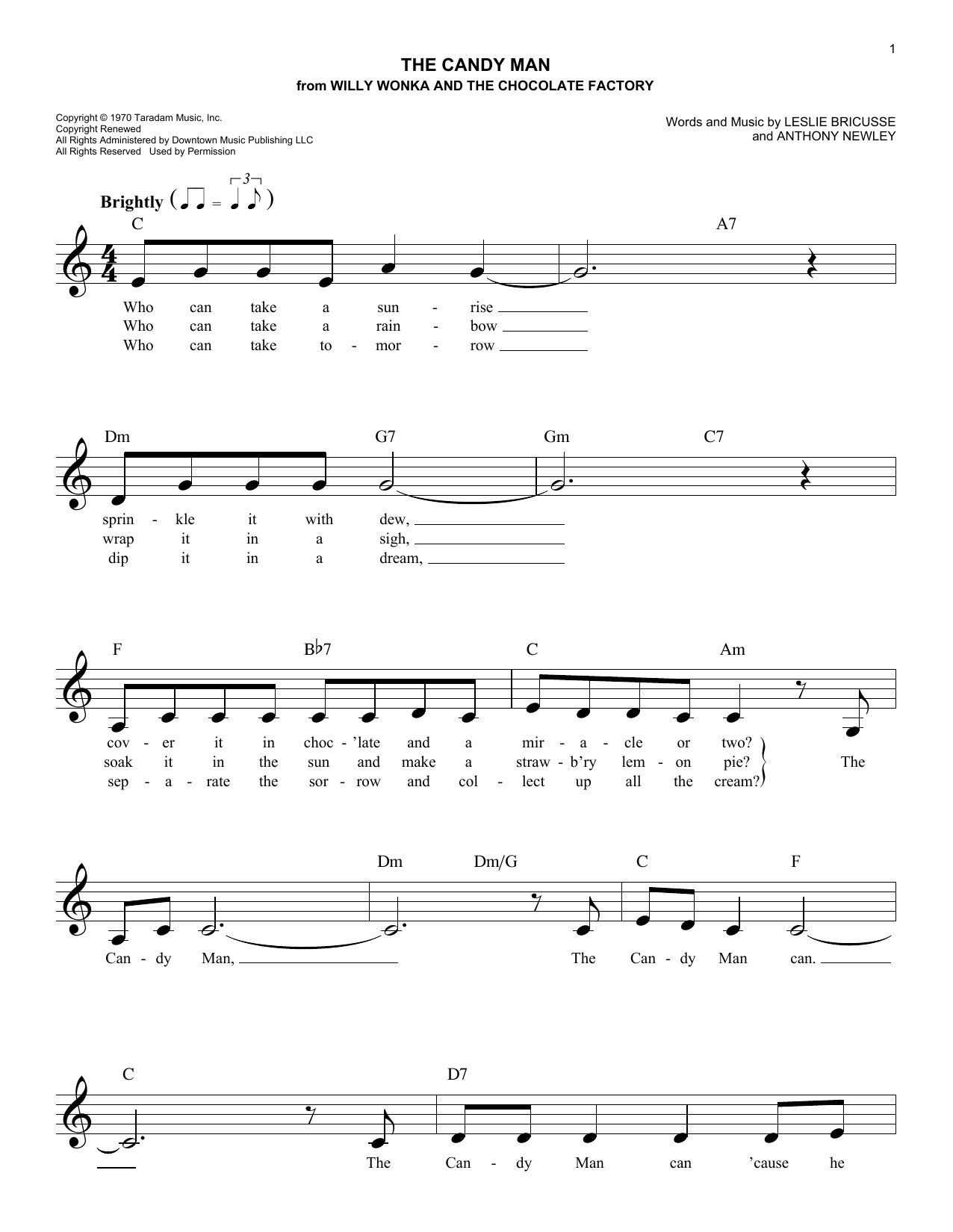 The Candy Man Sheet Music