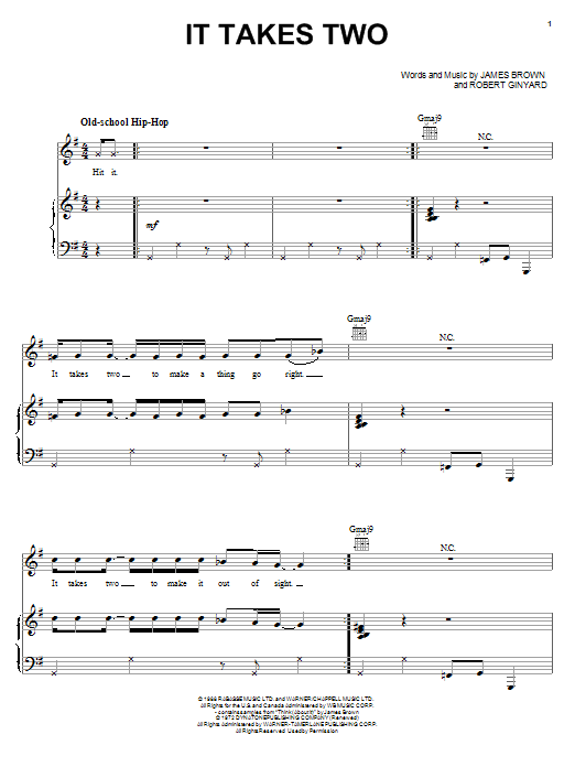 It Takes Two (Piano, Vocal & Guitar (Right-Hand Melody))