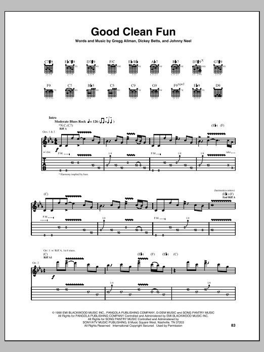 Good Clean Fun Sheet Music