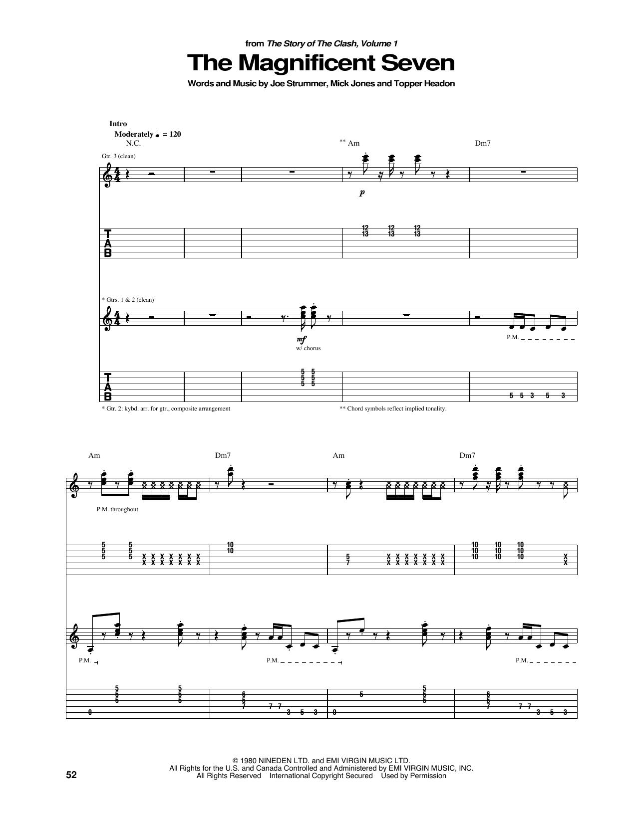 The Magnificent Seven (Guitar Tab)