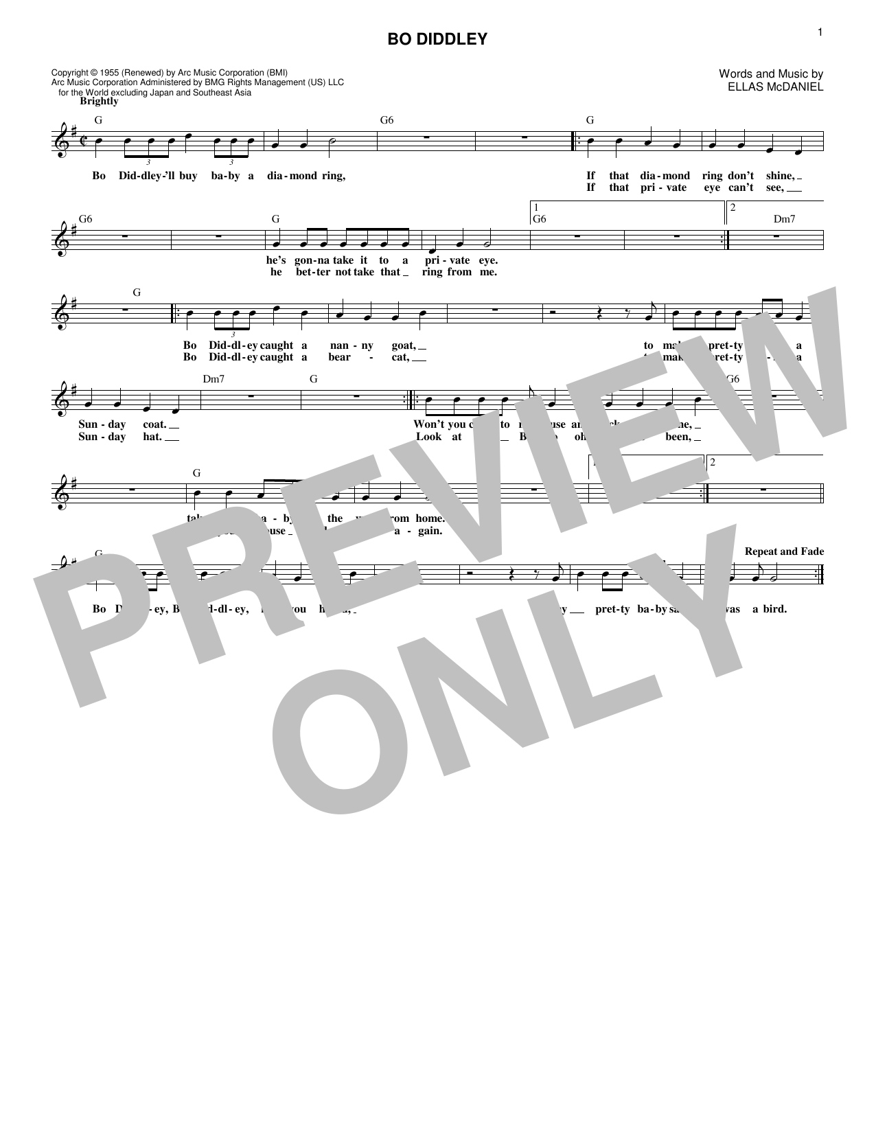 Bo Diddley (Lead Sheet / Fake Book)