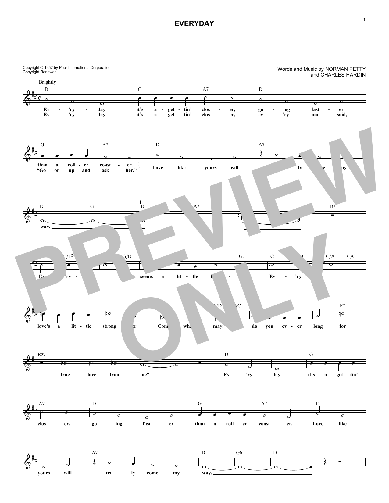 Everyday Sheet Music