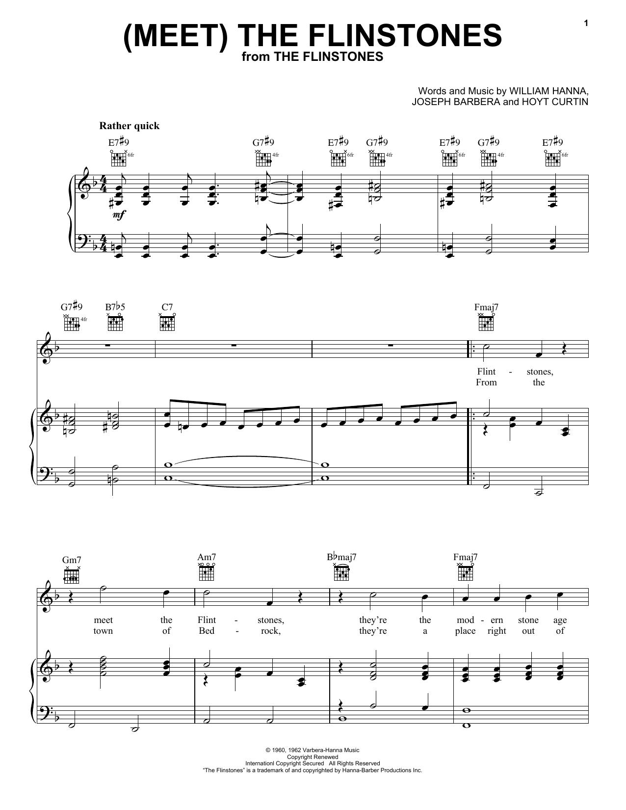 (Meet) The Flintstones Sheet Music