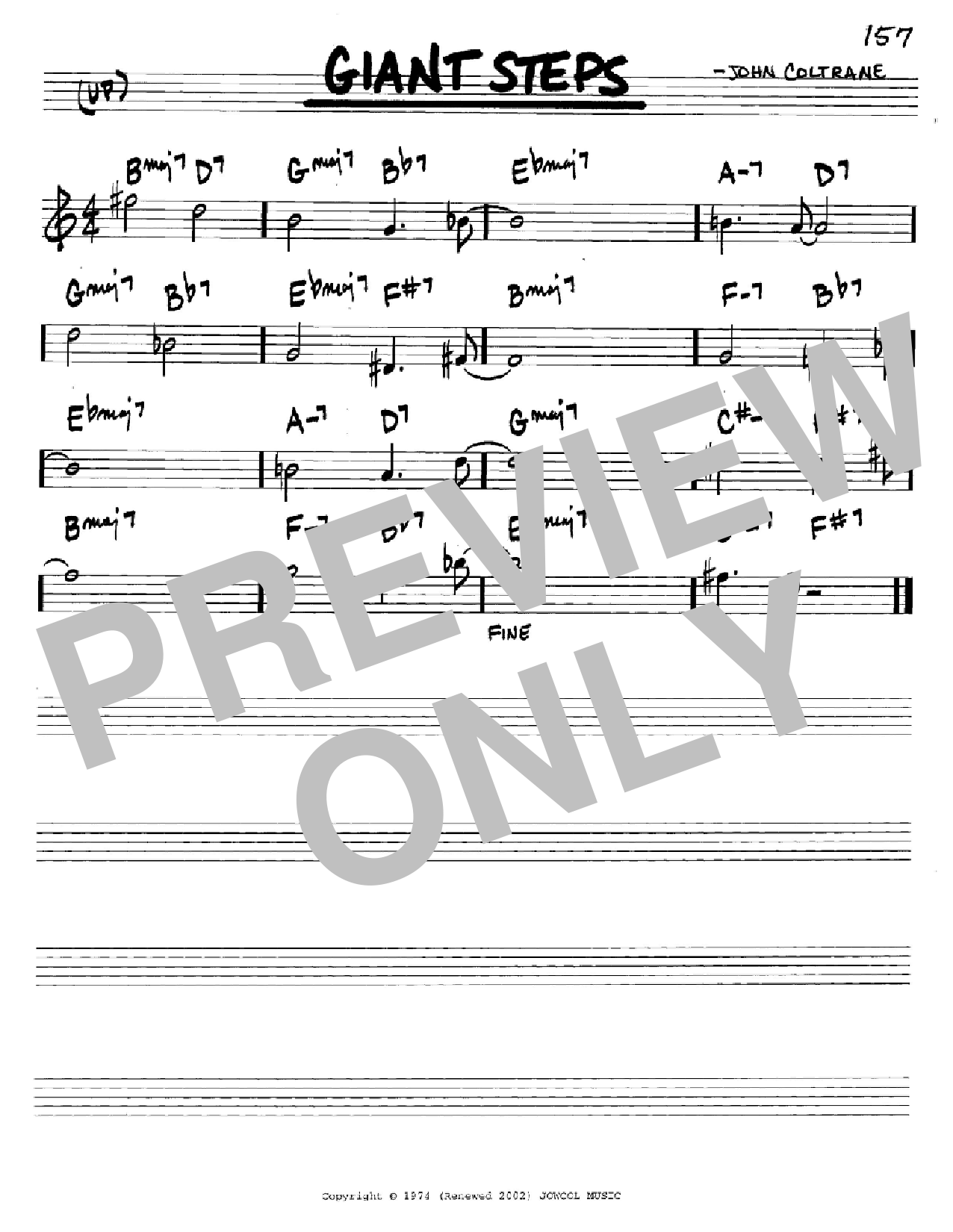 Giant Steps (Real Book – Melody & Chords – C Instruments)