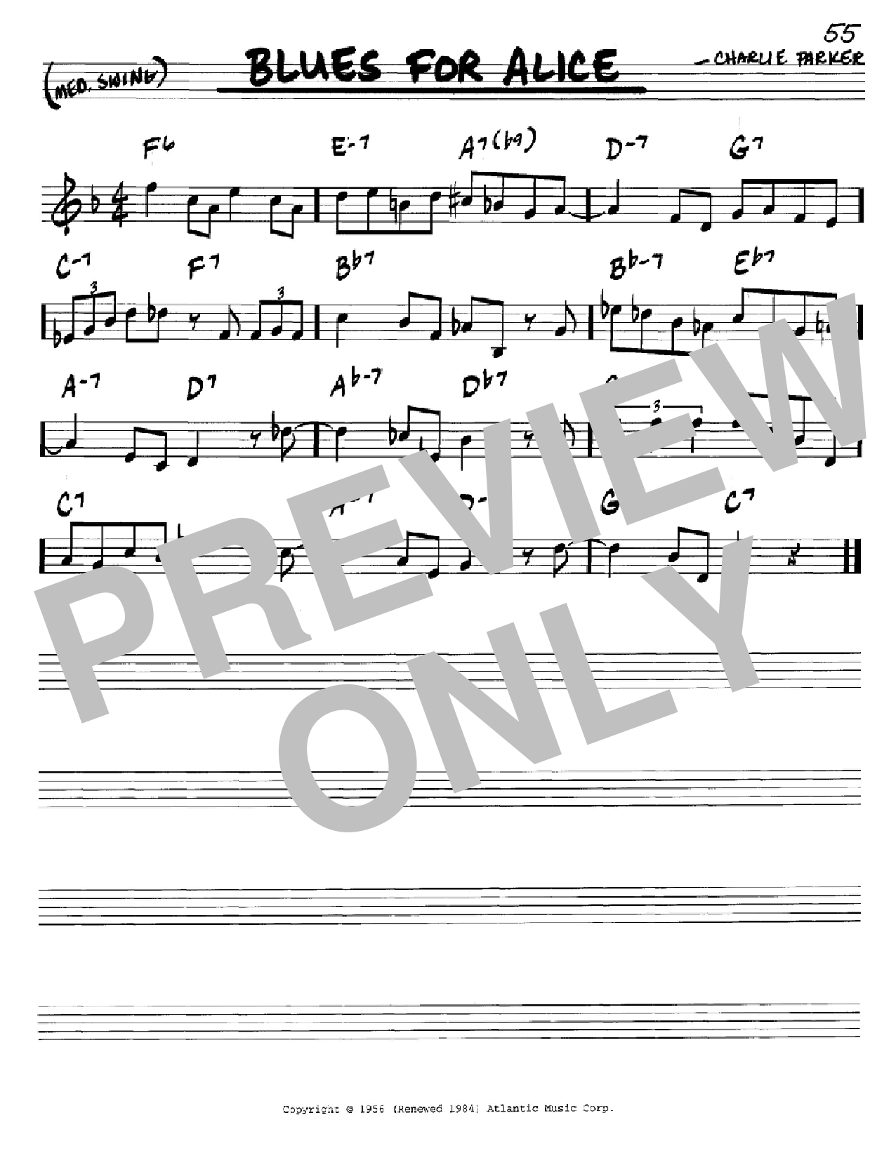 Blues For Alice Sheet Music