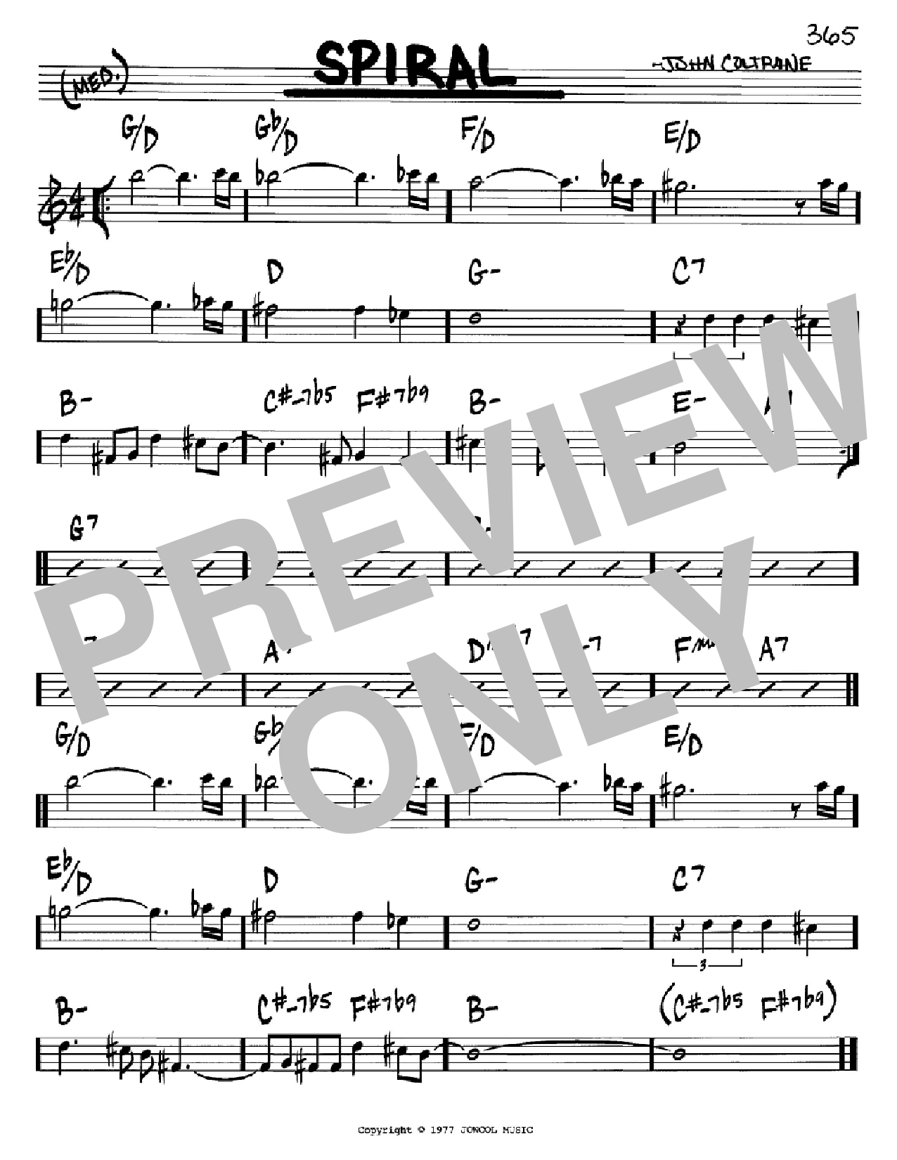 Spiral (Real Book – Melody & Chords – C Instruments)