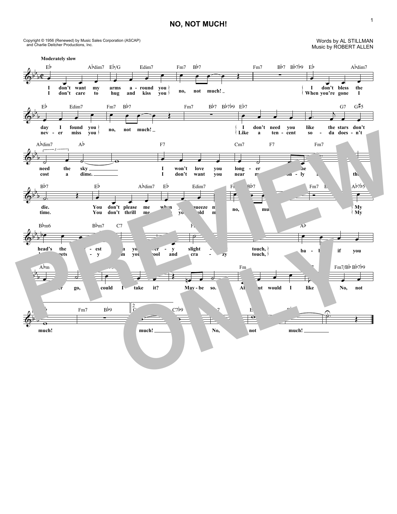 No, Not Much! (Lead Sheet / Fake Book)