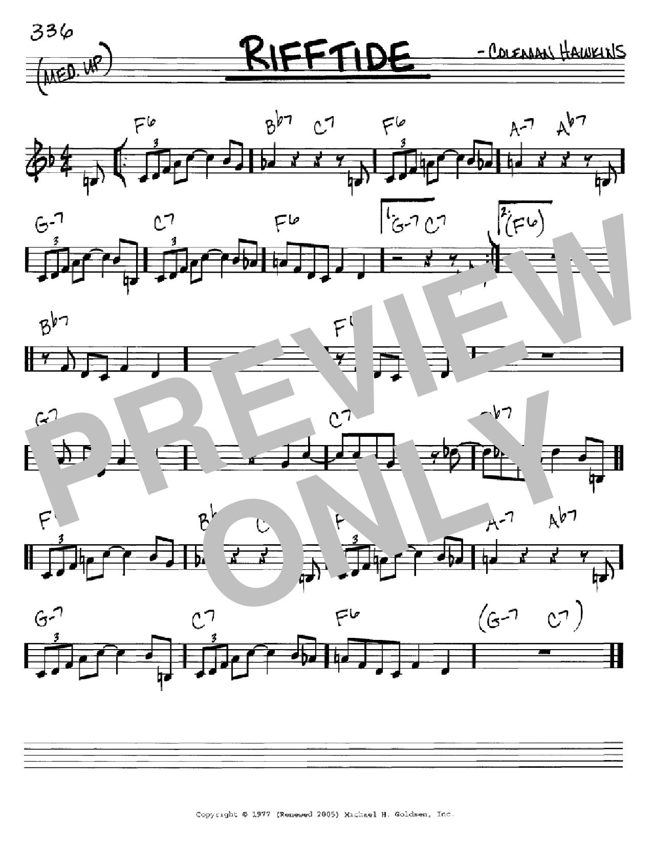 Rifftide (Real Book – Melody & Chords)
