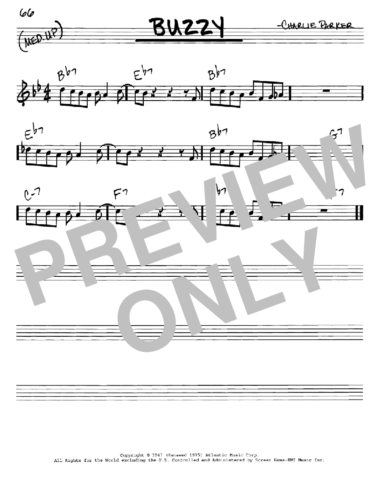 Buzzy (Real Book – Melody & Chords – C Instruments)