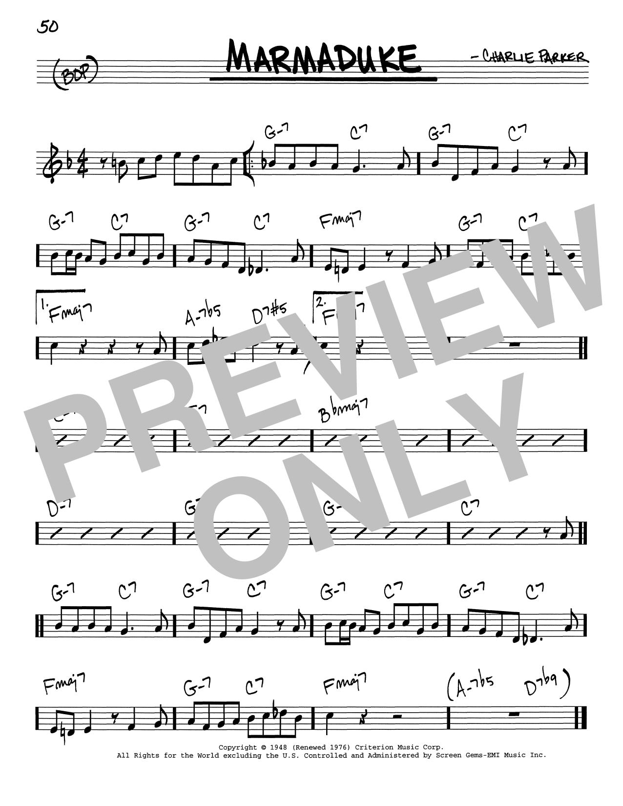 Marmaduke (Real Book – Melody & Chords – C Instruments)