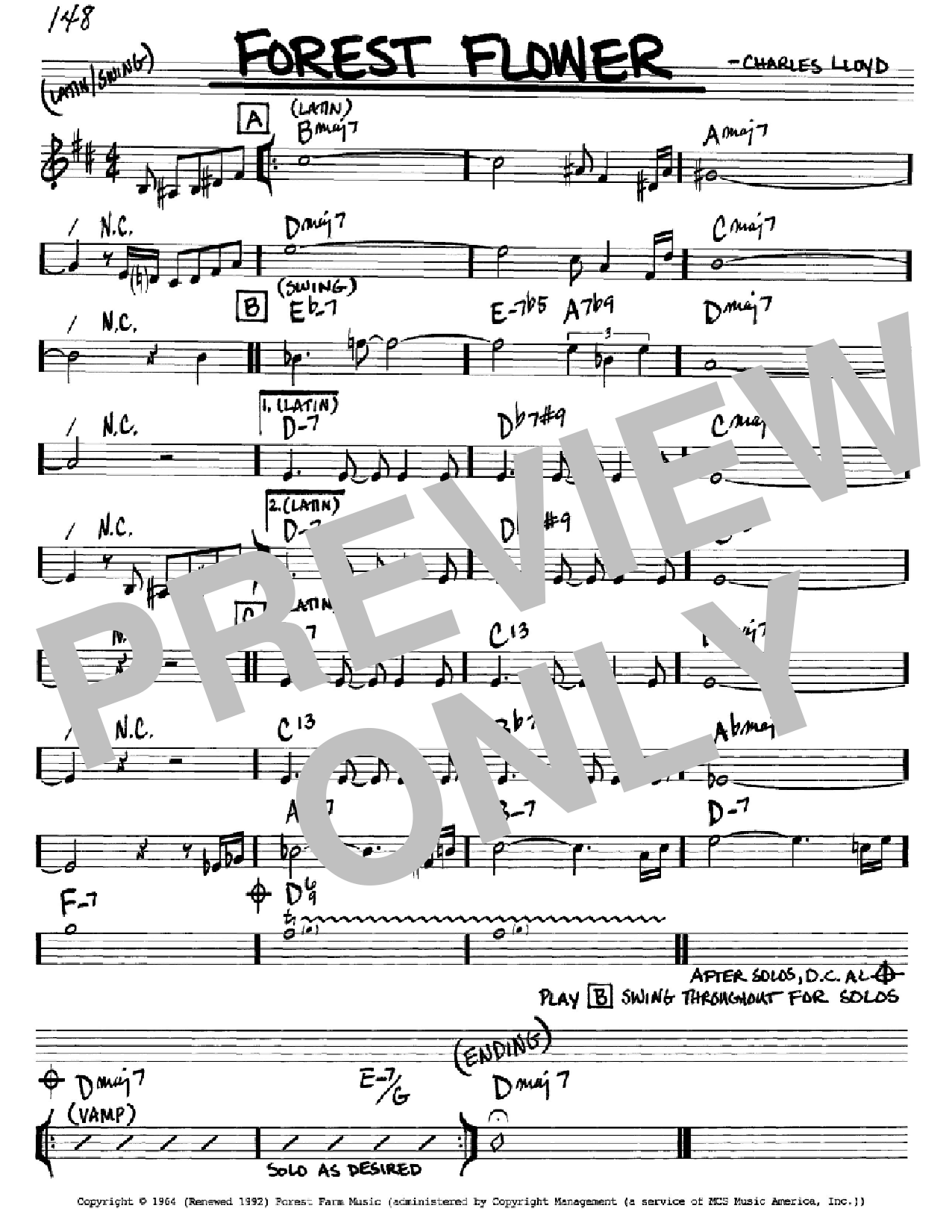 Forest Flower Sheet Music