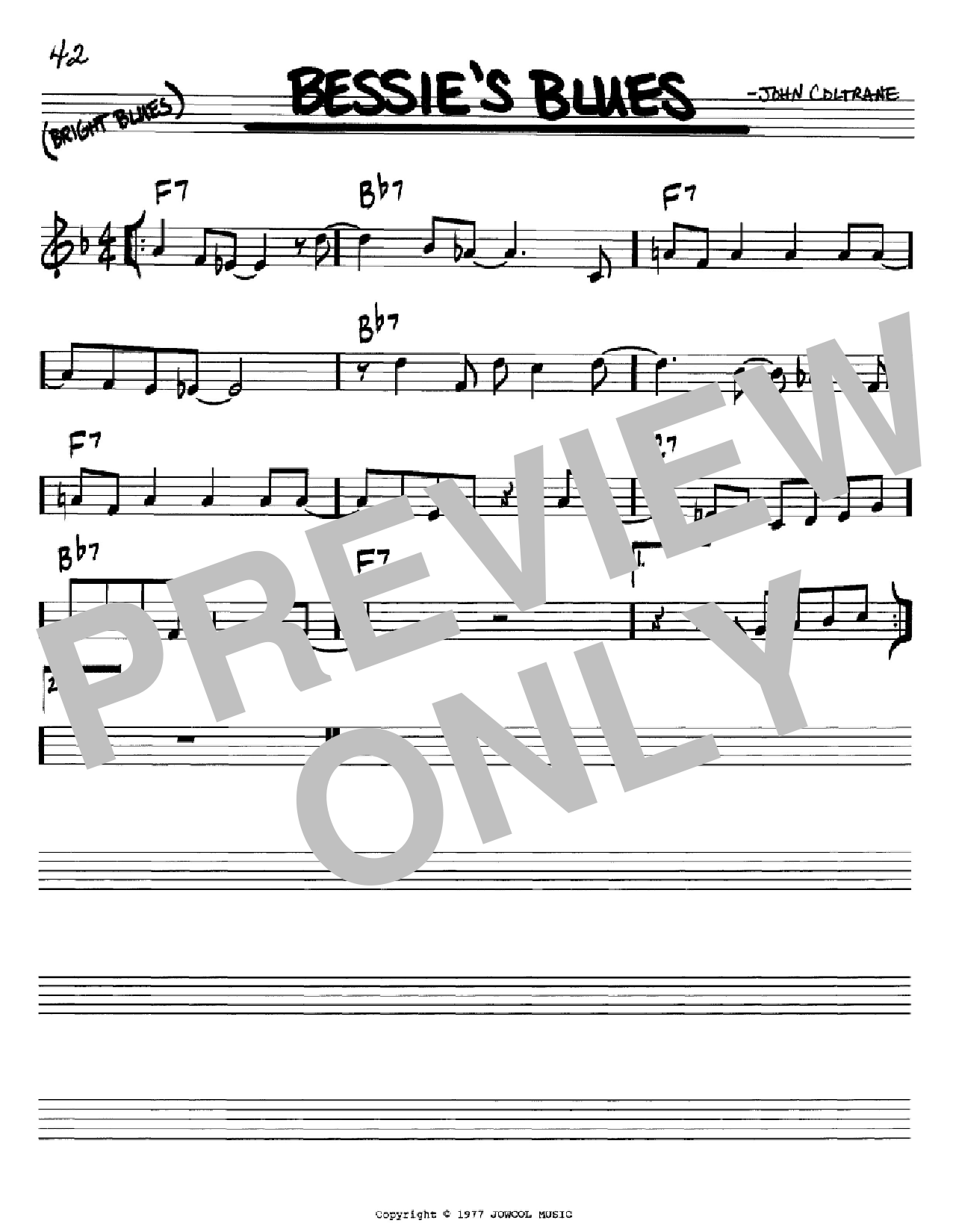 Bessie's Blues (Real Book – Melody & Chords – Bb Instruments)